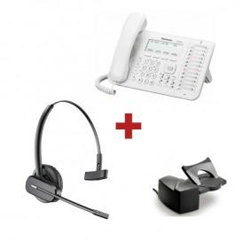 Panasonic KX-DT546NE Blanco + aur. inalámbrico Plantronics CS540 + Descolgador a distancia Plantronics HL10