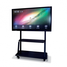 Soporte Móvil Básic negro para pantallas MultiClass