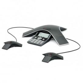 Soundstation IP 7000 POE con sus 2 micrófonos