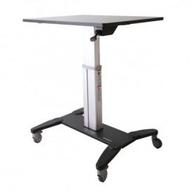 Estación de Trabajo Móvil de Pie y Sentado con Superficie de 80cm - de Altura Ajustable - Escritorio Móvil