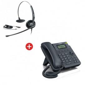 Yealink T19P + auricular Yealink HS33