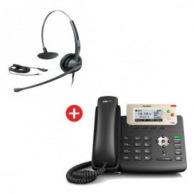 Teléfono Yealink SIP-T23G + Auricular Yealink YHS33