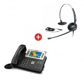 Teléfono Yealink SIP-T29G VoIP + Auricular Yealink YHS33