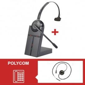 Pack auricular Cleyver HW20 para Polycom