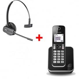 teléfono inalámbrico + auricular inalámbrico