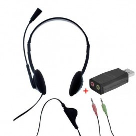 T'nB First Auricular Doble Jack con adaptador USB