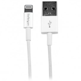 Cavo Connettore Lightning 8-pin Apple a USB di tipo Slim per iPhone / iPod / iPad da 1m - Bianco