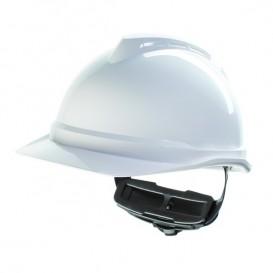 Casco MSA V-Gard 500 - Con ventilación y cierre Fas Trac III - Blanco