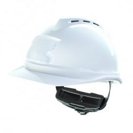 Casco MSA V-Gard 500 - Con ventilación y portatarjetas - Blanco