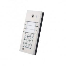 Helios IP Vario con 6 teclas, teclado y vídeo
