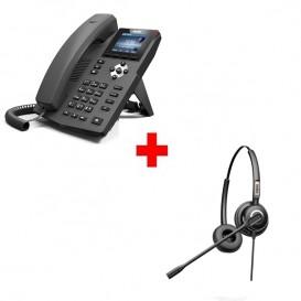 Pack Teléfono Fanvil X3G + Auriculares Fanvil HT202