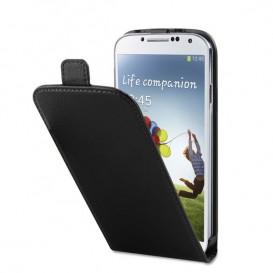 Funda de cuero con tapa para Galaxy S4