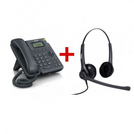 Yealink T19P + auricular Freemate DH037UB-GY