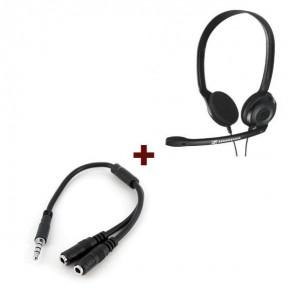 Sennheiser PC 3 Chat + Cable adaptador para auriculares y micrófono