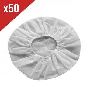 Protectores desechables Blancos para almohadillas (50 uds)
