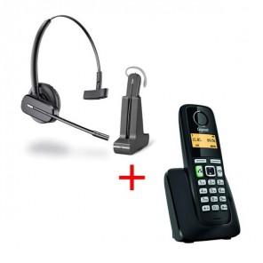 Auricular inalámbrico C565 + teléfono dect Gigaset A220