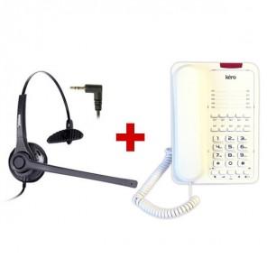 Teléfono con auricular