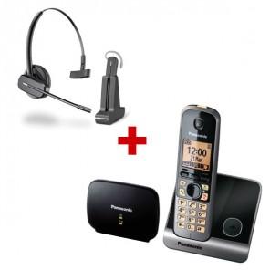 Panasonic KX-TG6751 + auricular inalámbrico Plantronics C565