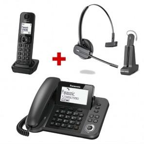 Panasonic KX-TGF310 + auricular inalámbrico Plantronics C565