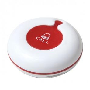Pulsador para llamar al personal con 1 tecla (blanco y rojo)