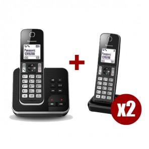 Panasonic KX-TGD320 + 2 supletorios