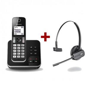 Panasonic KX-TGD320 + auricular inalámbrico Plantronics C565
