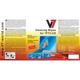 V7 - Toallita de limpieza para pantallas 100 unidades