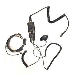 Micro-auricular laringófono versión Motorola  2 pins