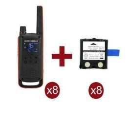 Pack de 8 Motorola Talkabout T82 + Baterias de recambio