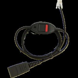 Cable liso QD - 0.8m QD a RJ9