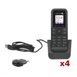 Pack 4 Alcatel 8232S Dect + Pack cargador