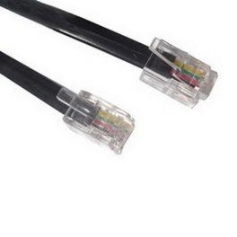 Cable RJ9/RJ9 50 cm negro