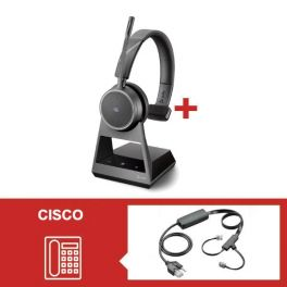 Auricular Plantronics Voyager 4210 Office USB-C MS con descolgador electrónico para Cisco