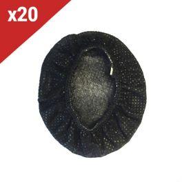 20 Almohadillas desechables Negras