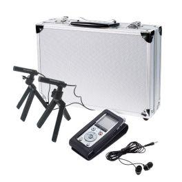 Olympus DM-720 + funda CS150 + 2 micrófonos ME-30W + auriculares E39