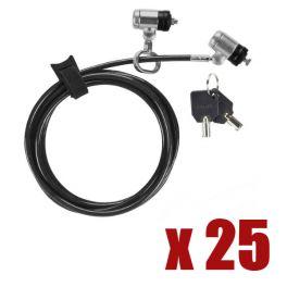 Pack 25 Candados de seguridad con cable Dual P2MKL Targus Defcon