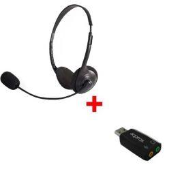 Pack: Auricular Estéreo con adaptador USB