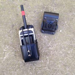 Estuche - funda universal en cuero para walkie talkie