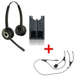 Auricular GN920 duo + descolgador electrónico para Alcatel