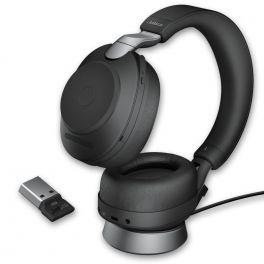 Jabra Evolve2 85 UC Stereo con soporte de carga - Negro