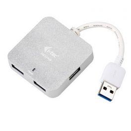 i-tec U3HUBMETAL402 nodo concentrador 5000 Mbit/s Plata