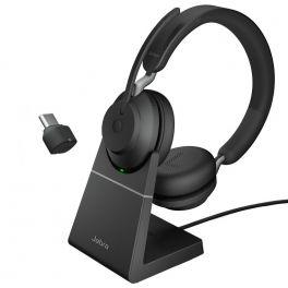 Jabra Evolve2 65 Stereo USB-C UC con soporte de carga