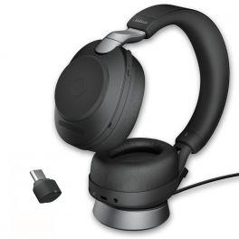 Jabra Evolve2 85 UC Estéreo USB-C con base de carga - Negro