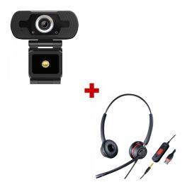 Webcam USB HD con Cleyver HC65 Auricular USB + Jack