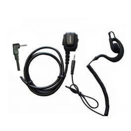 Micro-auricular ergonómico Motorola 1 pin T81,T82,T82EX, T92 + Auricular gancho