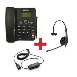 Jetfon X-500 + Auricular Jabra BIZ 1500 + Cable de conexión
