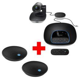 Pack Logitech Group + 2 micrófones de expansión