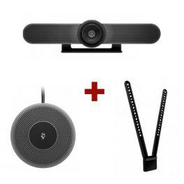 Logitech MeetUp Webcam + Micrófono + Montaje TV