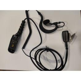 Micro-auricular de cable rizado con conector M7
