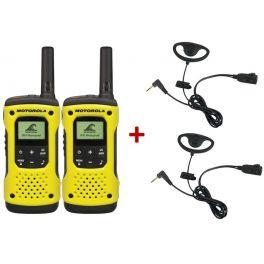 Pack de 2 Motorola T92 + 2 Kits con contorno de oreja